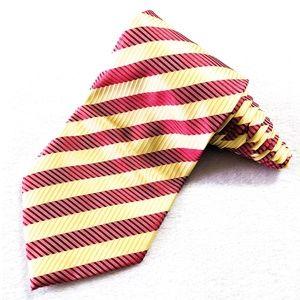 GIORGIO ARMANI Red YellowGold Stripe Tie